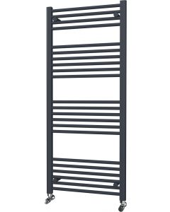 Zennor - Anthracite Heated Towel Rail - H1400mm x W600mm - Straight