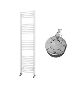 Zennor - White Electric Towel Rail H1600mm x W400mm Curved 600w Thermostatic