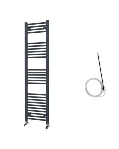 Zennor - Anthracite Electric Towel Rail H1600mm x W400mm Straight 600w Standard