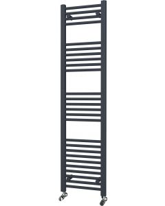 Zennor - Anthracite Heated Towel Rail - H1600mm x W400mm - Straight
