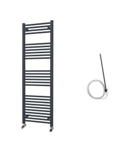 Zennor - Anthracite Electric Towel Rail H1600mm x W500mm Straight 600w Standard