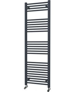 Zennor - Anthracite Heated Towel Rail - H1600mm x W500mm - Straight