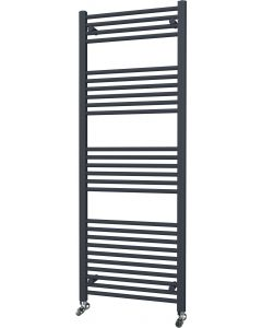 Zennor - Anthracite Heated Towel Rail - H1600mm x W600mm - Straight