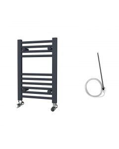 Zennor - Anthracite Electric Towel Rail H600mm x W400mm Straight 200w Standard